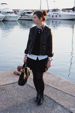 Kookai jacket - Zara boots - Lee shirt - Zara skirt