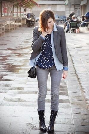 Zara blouse - Mango jeans - Only blazer - H&M shirt