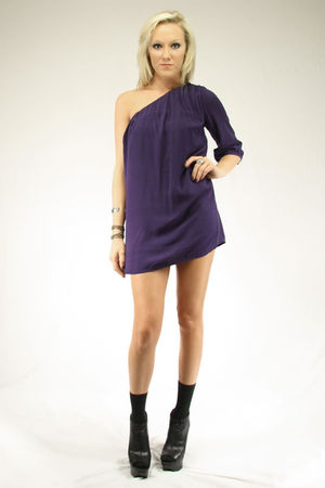 purple Seventh Door dress - silver Seventh Door bracelet - black Steve Madden sh