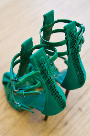 green straps philip lim sandals