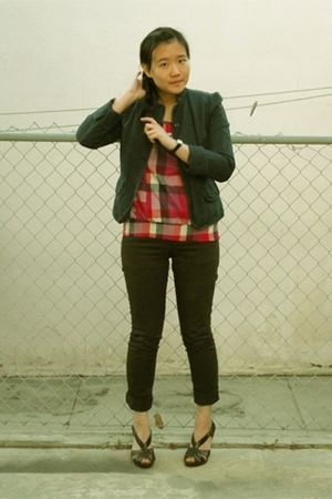 Gap jacket - forever 21 blouse - H&amp;M pants - H&amp;M shoes