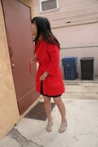 BB Dakota coat - forever 21 skirt - Nine West shoes