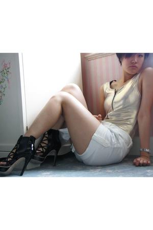 American Apparel top - IP Zone shorts - Bebe shoes
