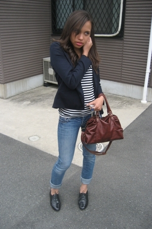 spinns blazer - Lowrys Farm shirt - Kate Moss for Topshop shoes - American Eagle
