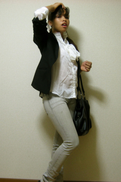 H&M blazer - blouse - urbn jeans