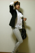 H&amp;M blazer - blouse - urbn jeans