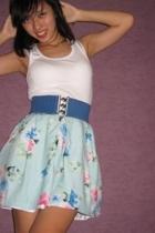skirt - top - belt