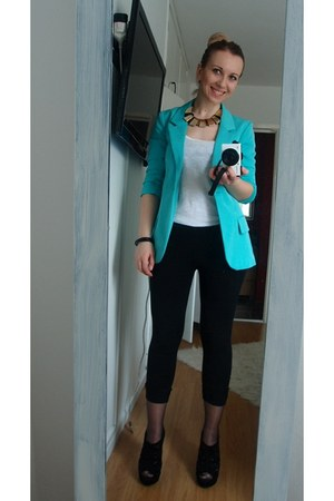 aquamarine New Yorker blazer - white New Yorker top