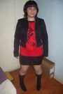 Ramdom-dress-xoxo-jacket-lane-crawford-boots-claires-earrings