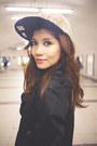 Black-lace-mini-shopthiseasy-dress-heather-gray-baseball-new-era-hat