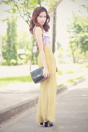 CMG shoes - shoulder sm accessories bag - palazzo Flights of Fancy pants