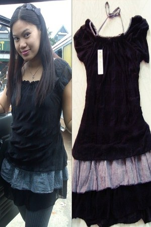black bankok dress - black bow headband genevieve gozum accessories