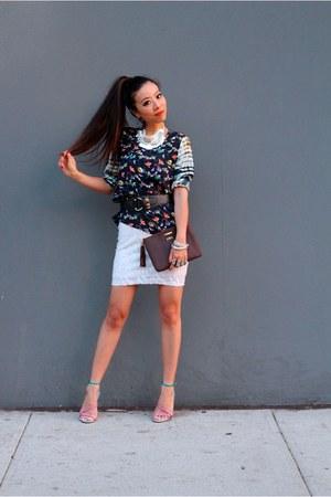 Blouse blouse - Bag bag - sunglasses sunglasses - Heels for night sandals