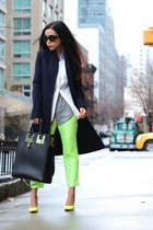 coat coat - Blazer blazer - shirt shirt - Bag bag - Shoes heels - pants pants