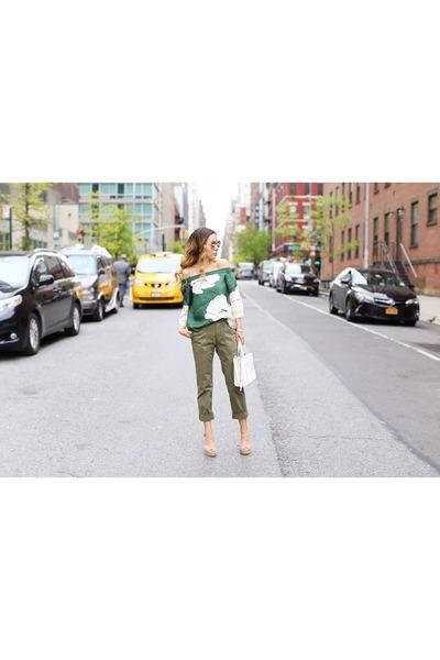 Bag bag - sunglasses sunglasses - Top top - on sale pants pants - wedges wedges