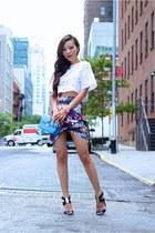 Bag bag - Skirt skirt - Top top - sandals sandals
