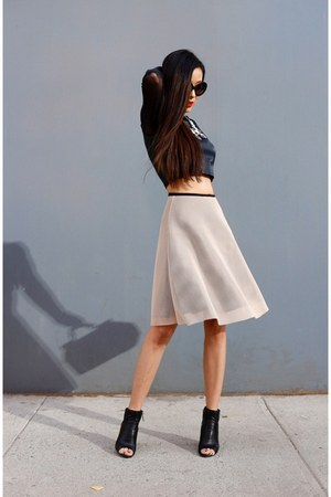 skirt - boots - bag - sunglasses - necklace