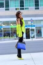 Bag bag - Jeans jeans - Top top - heels pumps