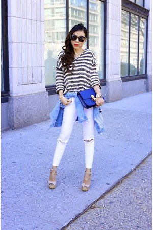 Top top - Jeans jeans - sunglasses sunglasses - Shoes sandals