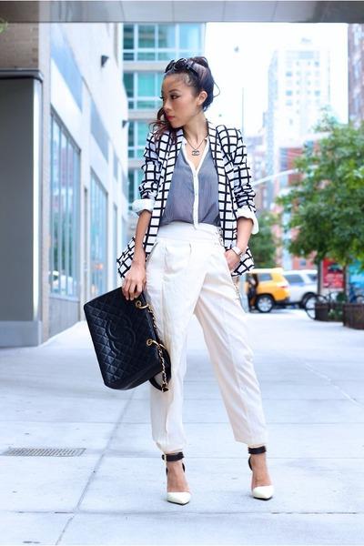 Blazer blazer - Bag bag - pants pants - necklace necklace - heels heels