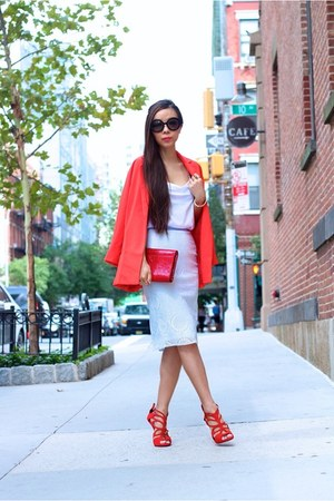 Blazer blazer - clutch bag - sunglasses sunglasses - Cami top - heels heels