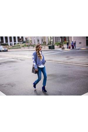 star bomber top - Top top - booties boots - Jeans jeans - Bag bag