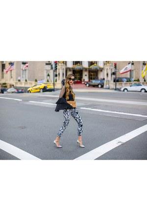 Bag bag - sunglasses sunglasses - Earrings earrings - pants pants - heels heels