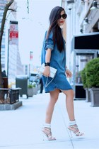 Denim shirt dress dress