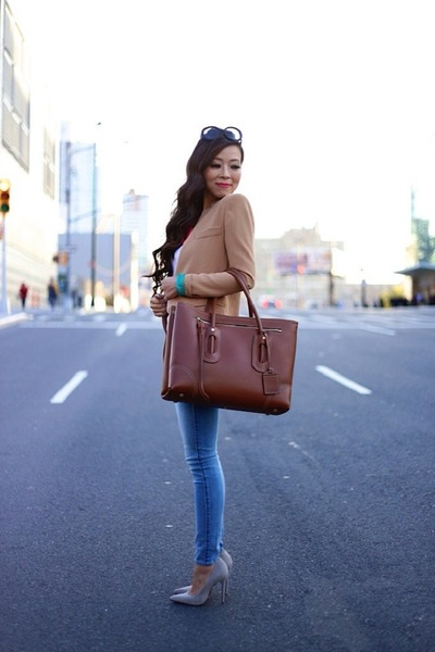 necklace necklace - Jeans jeans - Blazer blazer - Bag bag