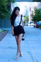 Top top - clutch bag - shorts shorts - sandals sandals