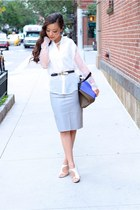 shirt shirt - Bag bag - Shoes heels - Skirt skirt