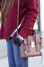 Jeans-jeans-hat-hat-sweater-sweater-bag-bag-heels-heels-gloves-gloves
