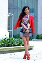 Jacket jacket - Dress dress - bags bag - Shoes sandals