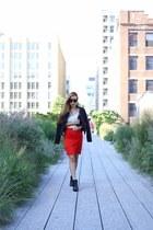 Skirt skirt - boots boots - Jacket jacket - Bag bag - sunglasses sunglasses