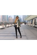 Jacket jacket - booties boots - Sweater sweater - Bag bag