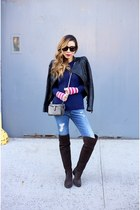Jacket jacket - 30 off OTK Boots boots - Jeans jeans - Sweater sweater - Bag bag
