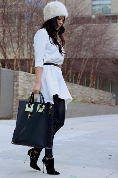 Sophie Hulme bag - Casadei boots - Topshop hat - asos ring