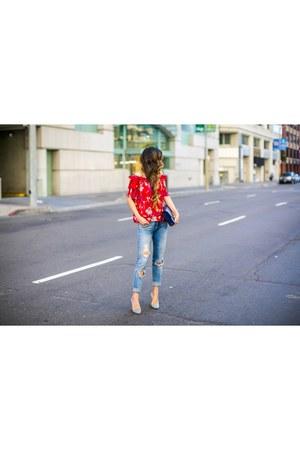 Bag bag - Jeans jeans - heels heels - Top top