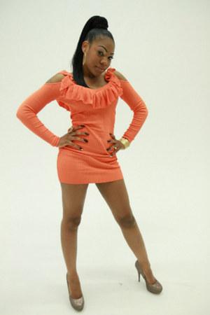 peach Arden B dress - Bakers heels