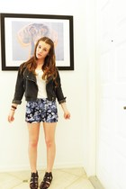 H&M jacket - H&M shoes - Zara shorts