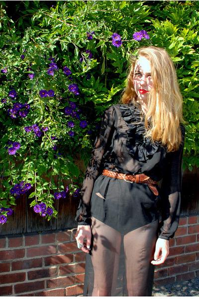 black sheer maxi DIY skirt