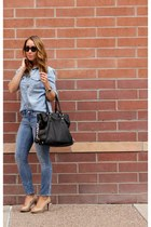 Michael Kors bag - Gap jeans - Ran-Ban sunglasses - Cole Haan pumps - J Crew top