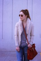banana republic sweater - Gap jeans - Aldo bag - H&M sunglasses