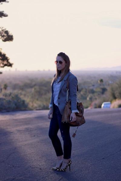 BCBG Paris heels - Gap jeans - H&M blazer - Michael Kors bag - H&M sunglasses