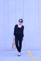 Victorias Secret sweater - Zara jeans - calvin klein bag - Prada sunglasses