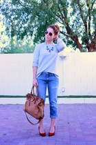 Michael Kors bag - Gap jeans - French Connection sweater