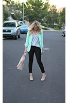 mint Wallis Fashion blazer - black Old Navy jeans - beige H&M bag