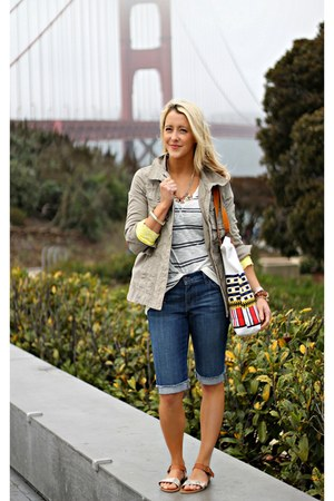military Old Navy jacket - stripes Old Navy shirt - denim Old Navy shorts