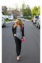 black Steve Madden shoes - black Forever 21 jeans - black BCBG blazer