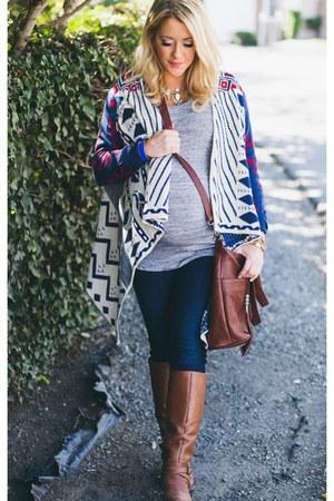 t-shirt H&M shirt - skinny AG Jeans jeans - cardigan Sheinside sweater